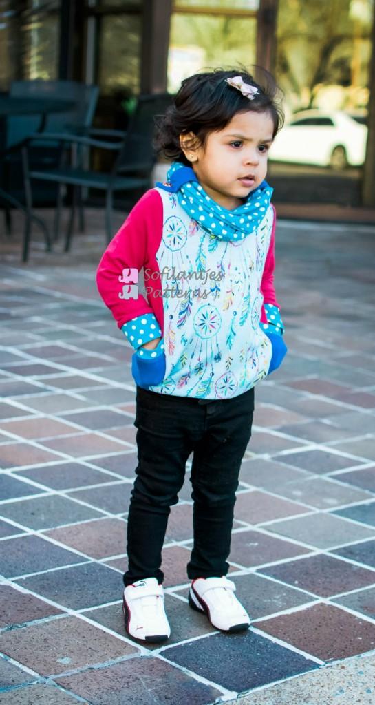 little girls Hibernis Cowl Shirt