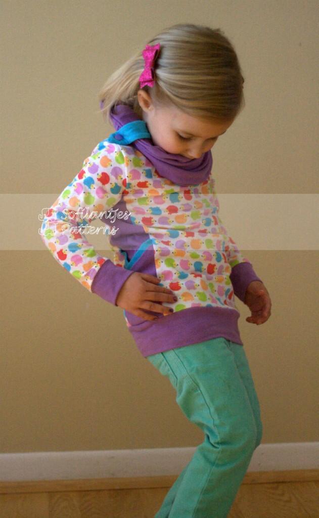 purple Hibernis cowl shirt-sofilantjes